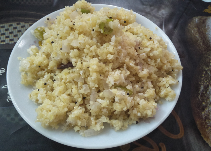 Broken Wheat Upma - Cooking Revived